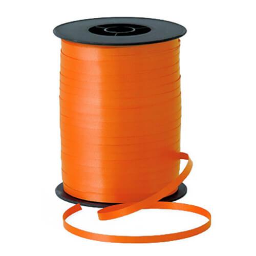 Nastro arancione per palloncini e confezioni regalo 1 pezzo