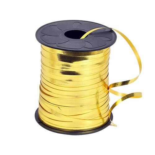 Nastro oro metallizzato per palloncini e confezioni regalo 1 pezzo