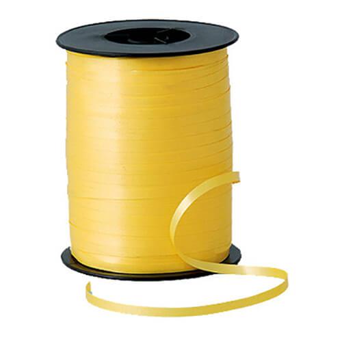 Nastro giallo per palloncini e confezioni regalo 1 pezzo