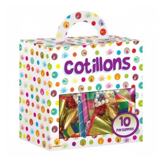 Set cotillons feste multicolore 100 pezzi