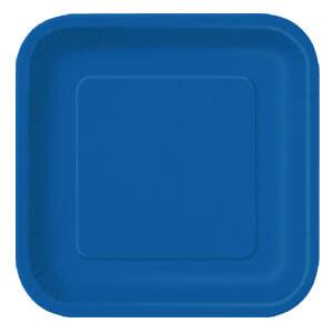 Piatti blu grandi 14 pezzi