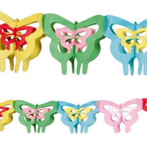 Ghirlanda Farfalle decorate 1 pezzo