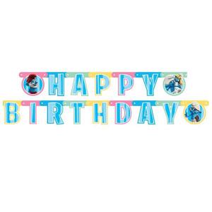 Festone Puffi per compleanno scritta happy BDay 1 pezzo