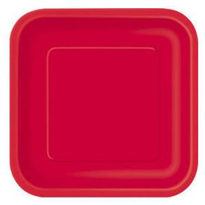 Piatti rosso grandi 14 pezzi