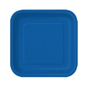 Piatti blu piccoli 16 pezzi