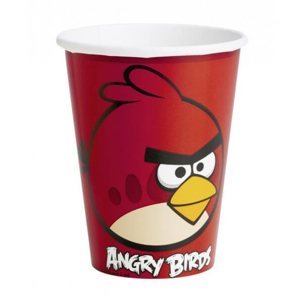Bicchieri Angry Birds 8 pezzi