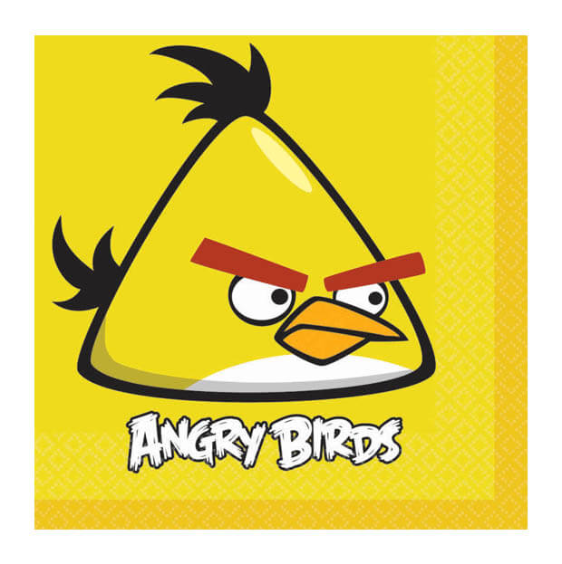 Tovaglioli Angry Birds Chuck 20 pezzi
