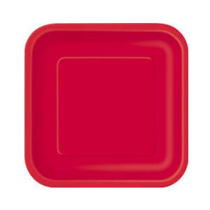 Piatti rosso piccoli 16 pezzi