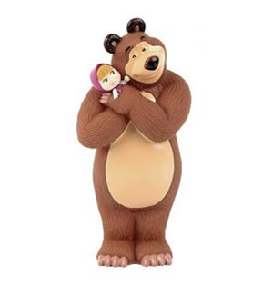Topper Masha e Orso abbraccio 1 pezzo