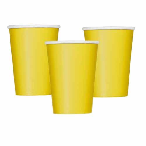 Bicchieri giallo 14 pezzi
