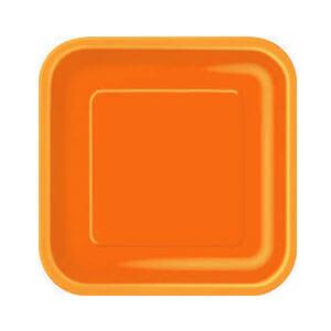 Piatti arancione piccoli 16 pezzi