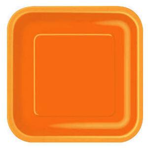 Piatti arancione grandi 14 pezzi