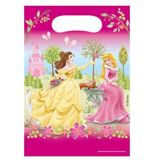 Bustine Principesse Disney per regali fine festa 6 pezzi