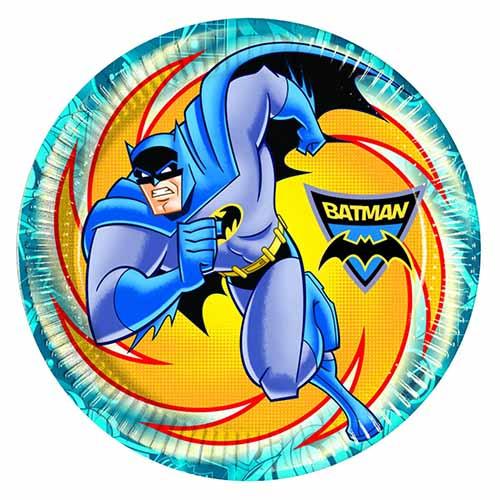 Piatti Batman grandi 8 pezzi